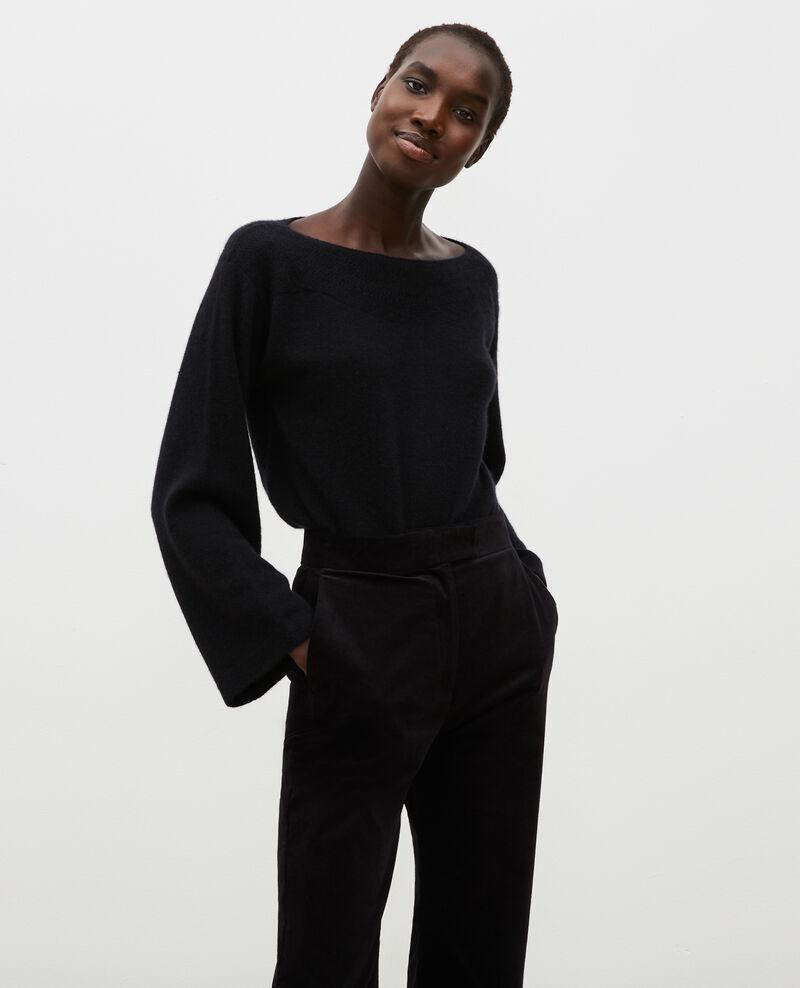 Jersey de cachemir con cuello de barco Black beauty Millau