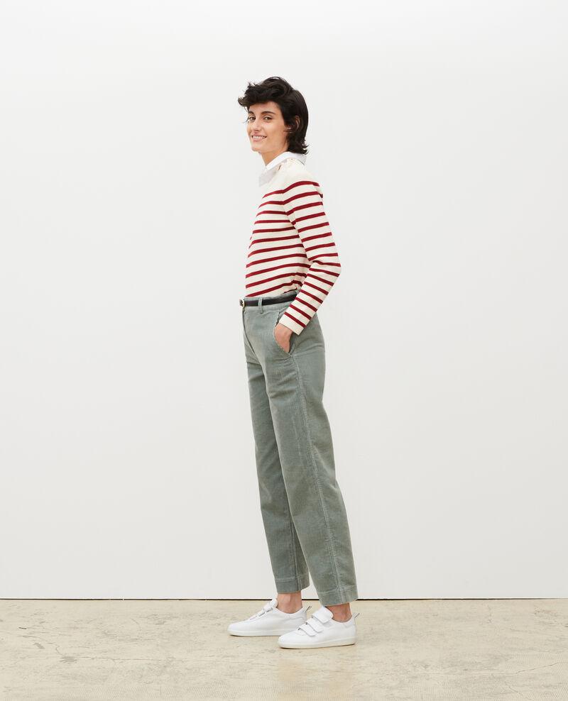 Pantalón ancho de pana Chinois green Maora