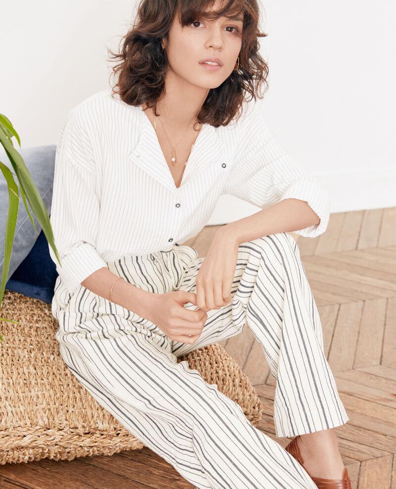 Camisa rayada Off white/navy stripes Falaise