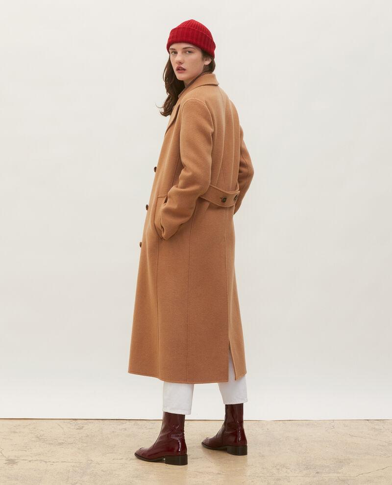 Abrigo de lana y cachemir de doble cara Latte Minard