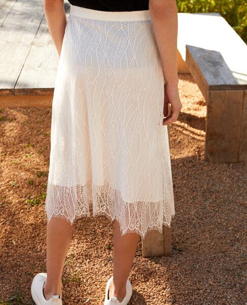 Comptoir des Cotonniers - Falda de encaje Off white - 3