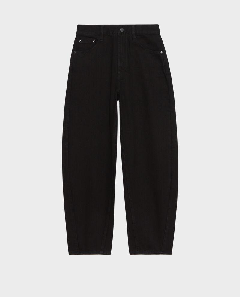 SYDONIE - BALLOON - Jeans amplios 7/8 talle alto Noir denim Palloono