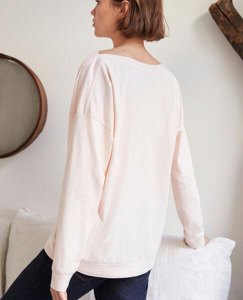 Comptoir des Cotonniers - Sudadera de cuello barco Light pink - 4