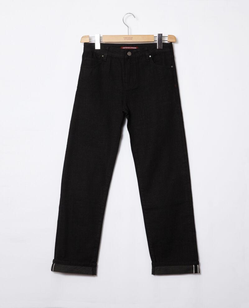 Jeans real straight Negro Goberta