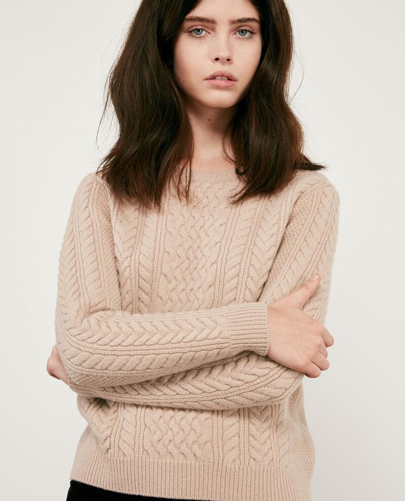 Jersey trenzado 100% de lana Beige Dodger