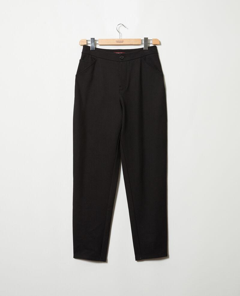 Pantalón corte carrot Noir Jointi