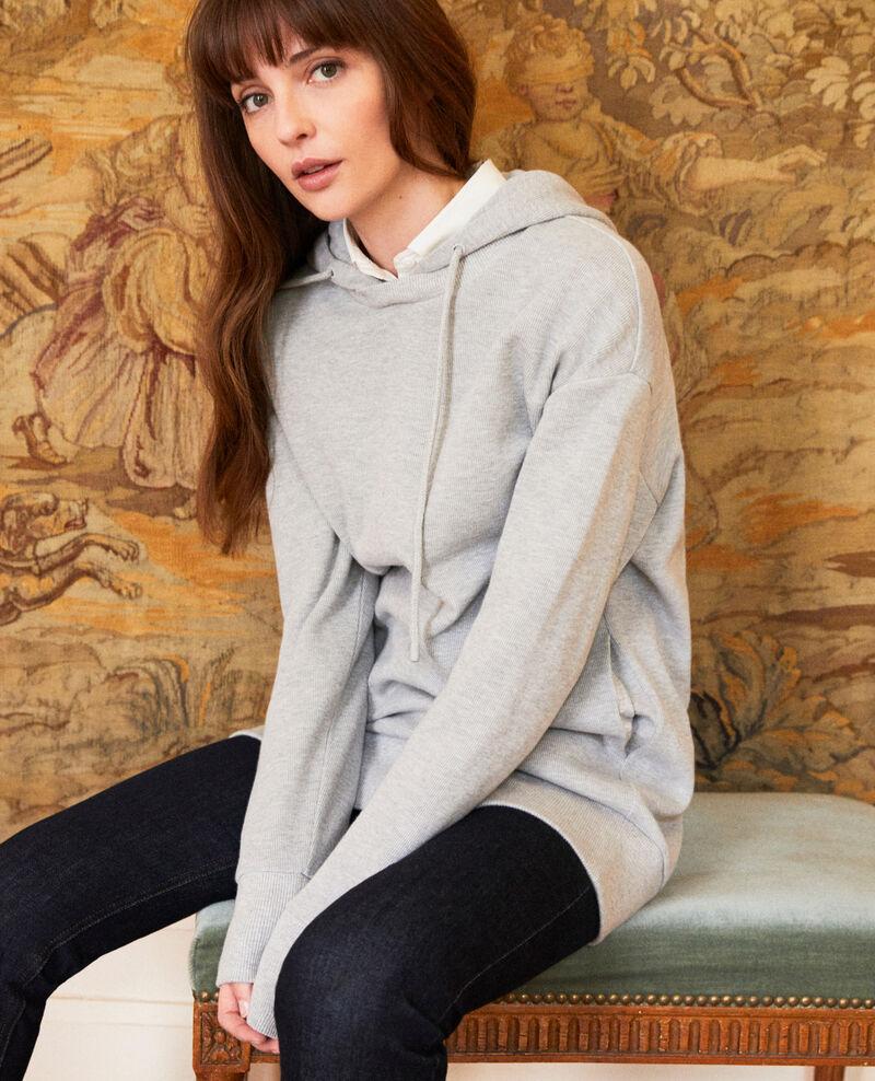Sudadera con capucha Light grey Jasette