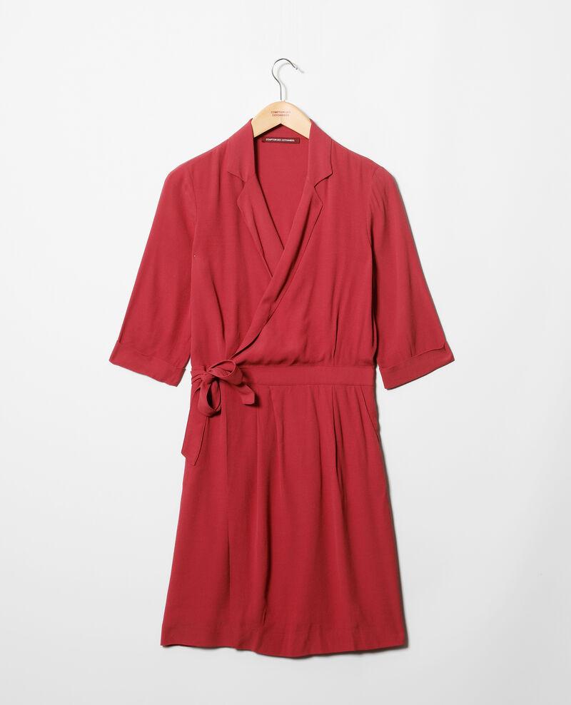 Vestido cruzado Earth red Gideen