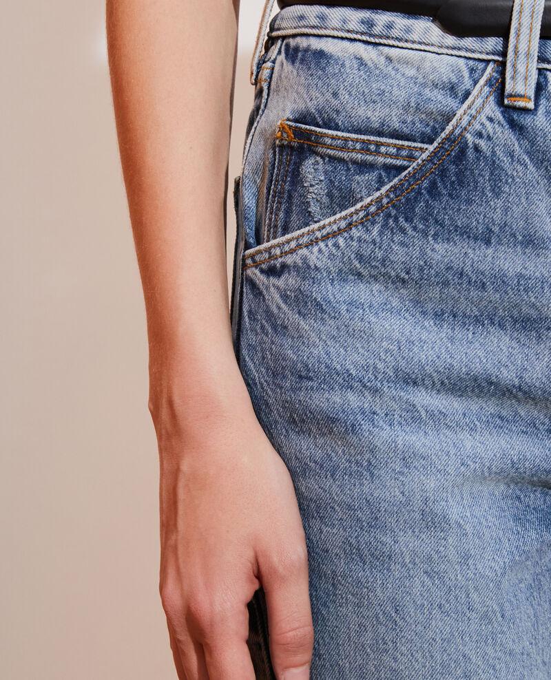 SLOUCHY - Jeans desteñidos 7/8 Vintage wash Neroneige