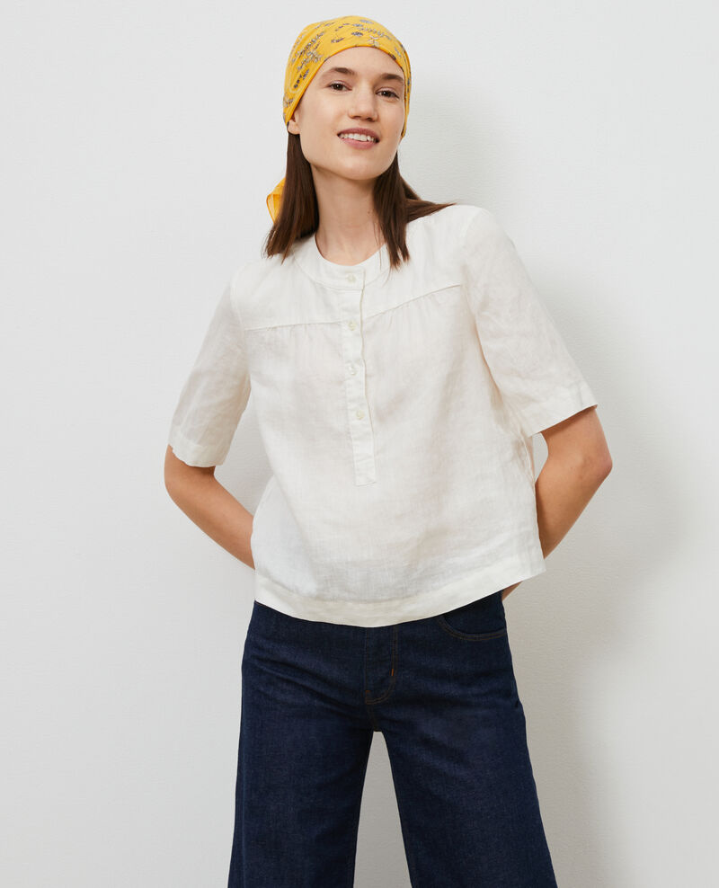 Blusa de lino Gardenia Lantoine
