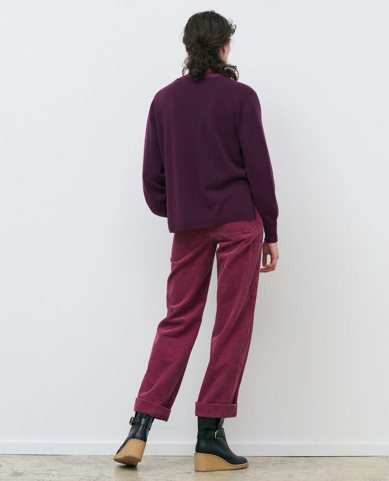 Cárdidan amplio 3D de cachemir Potent purple Paltazar