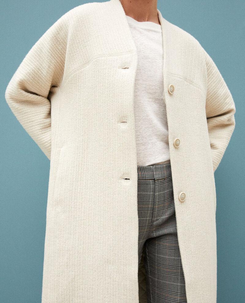 gran selección de 03659 e77ed Abrigo amplio Off white - Giovanna | Comptoir des Cotonniers