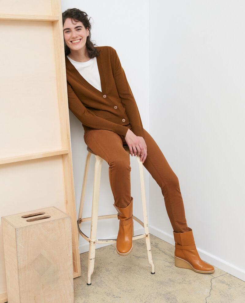 Cárdigan corto de lana merino Monks robe Palabre