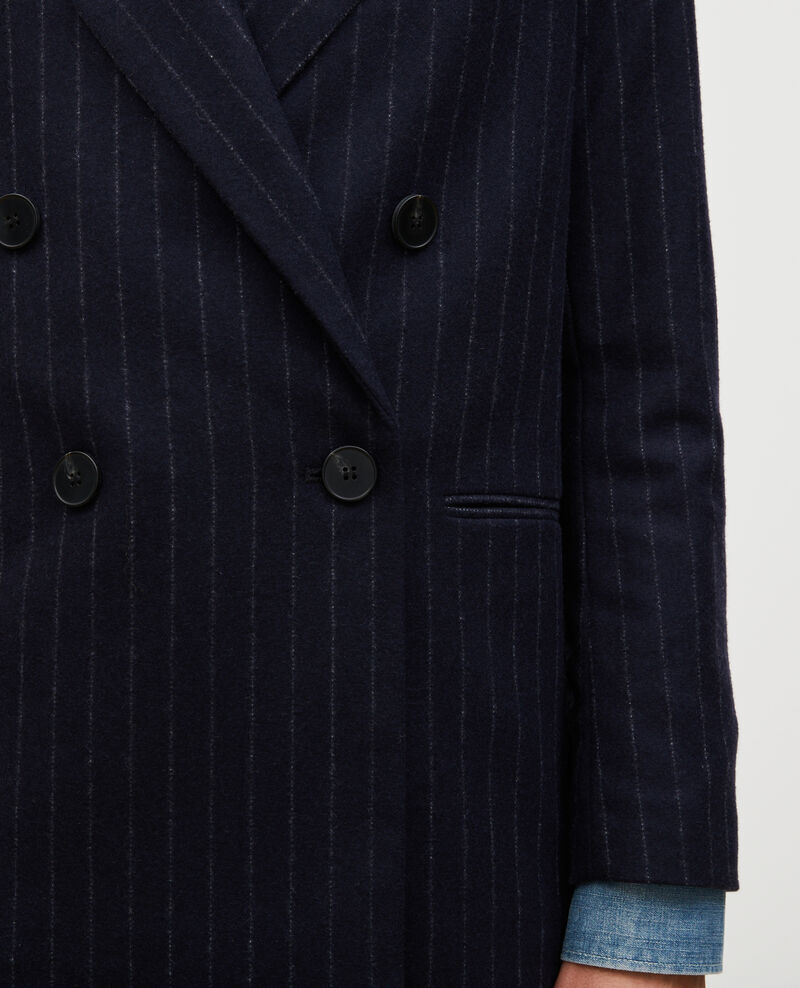 Blazer cruzado de lana Stripes night sky Muciano