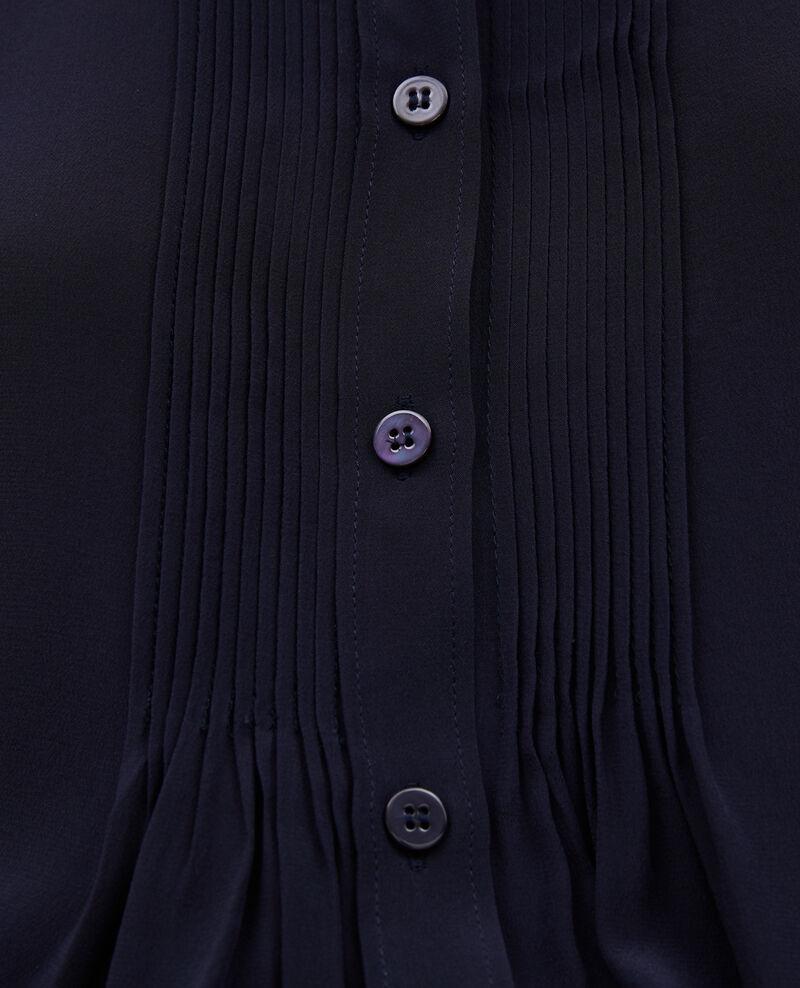 Camisa fluida de seda con manga larga Night sky Marboua
