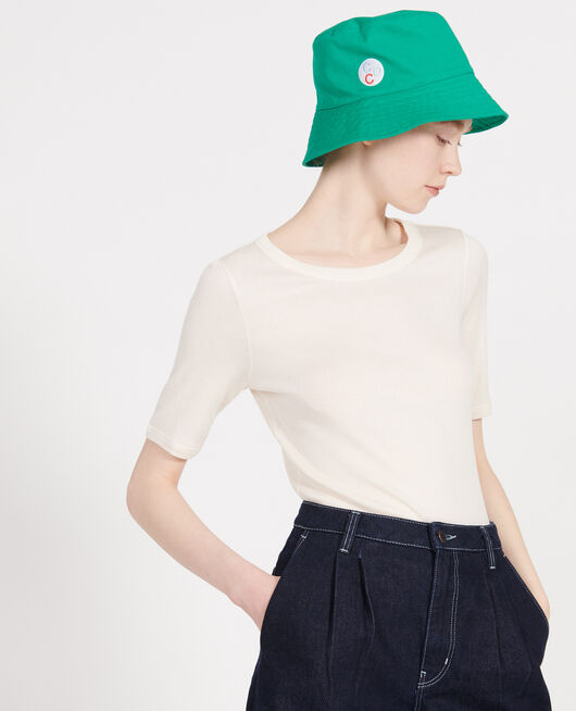 Camiseta de algodón mercerizado BUTTERCREAM