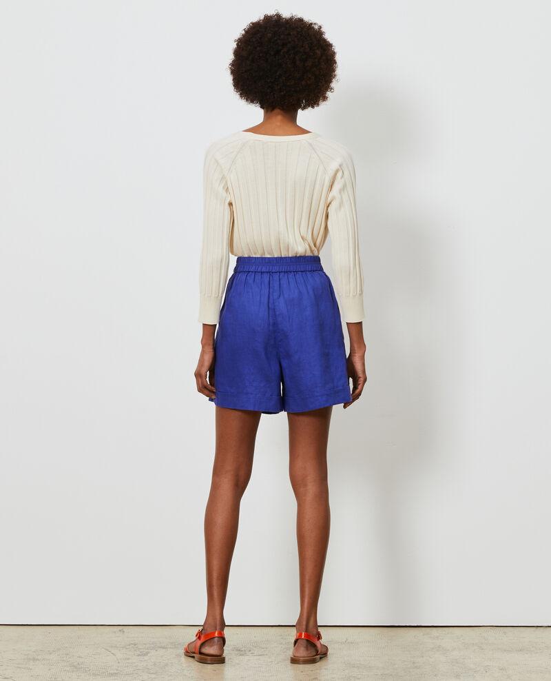 Short corto de lino Royal blue Navillien