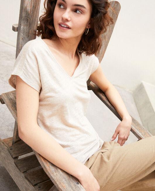 T-shirt en lin NATURAL LINEN