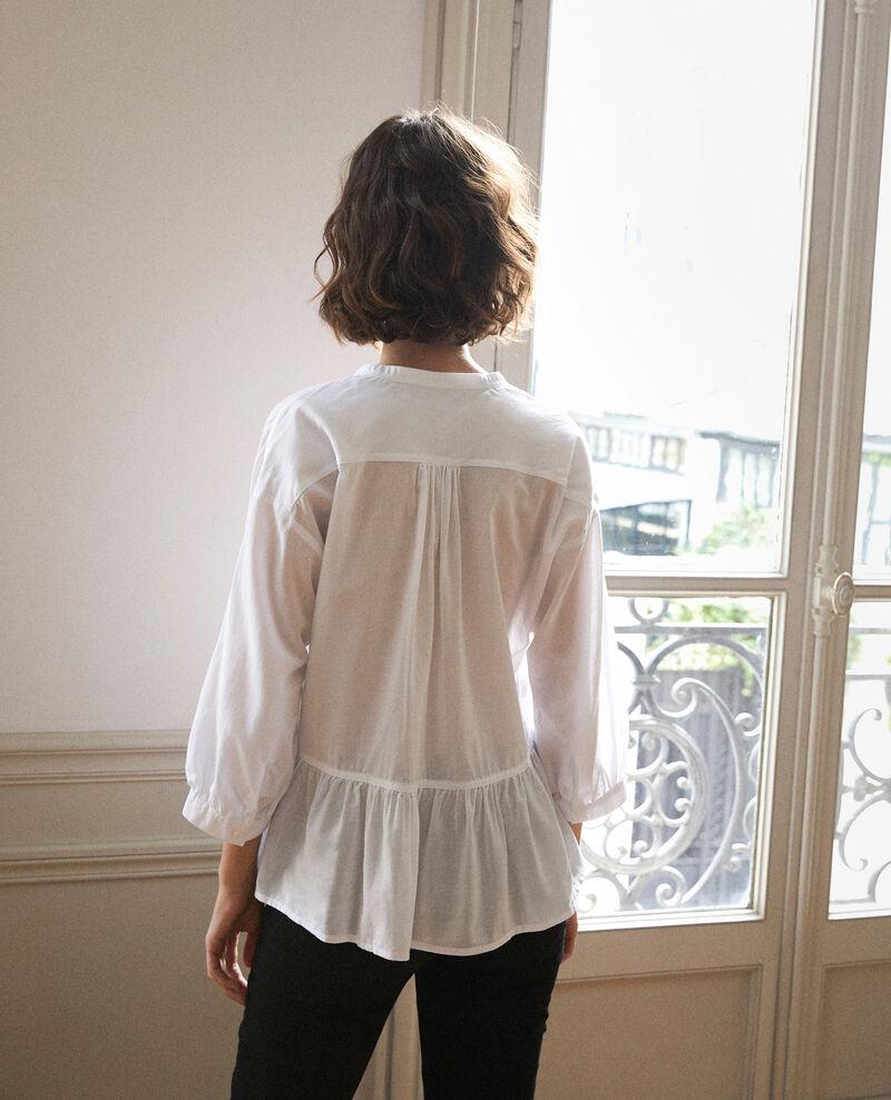 Blusa con faldón Blanco Garniture