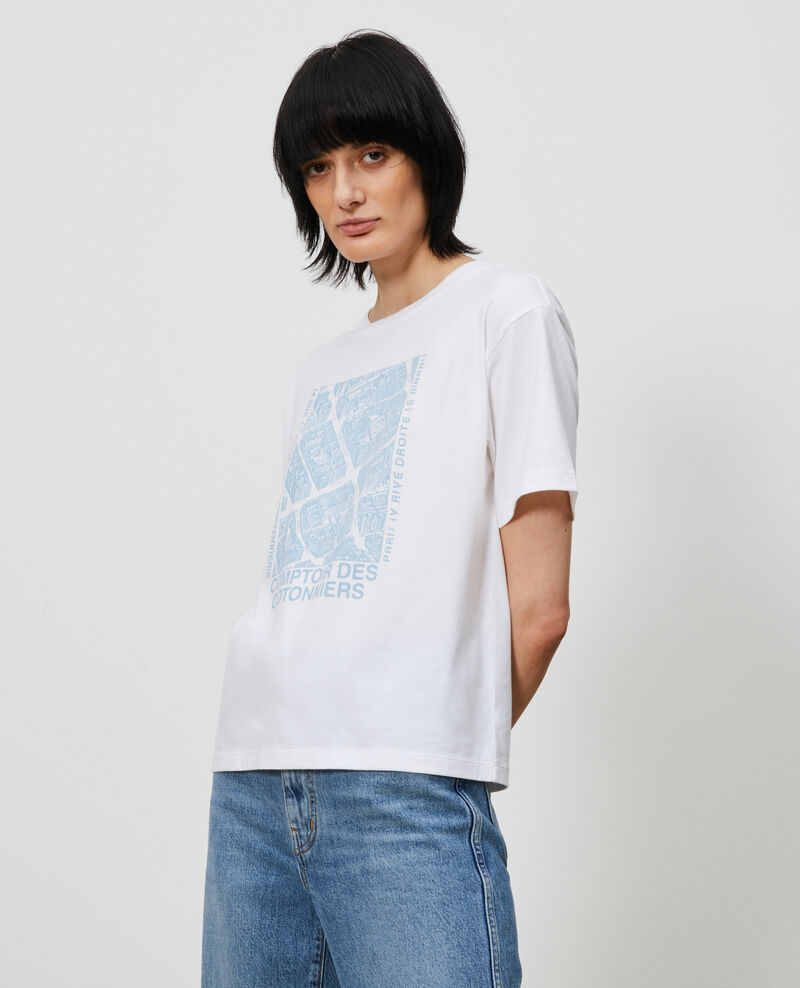 T-shirt en coton manches courtes Forget me not Marlane