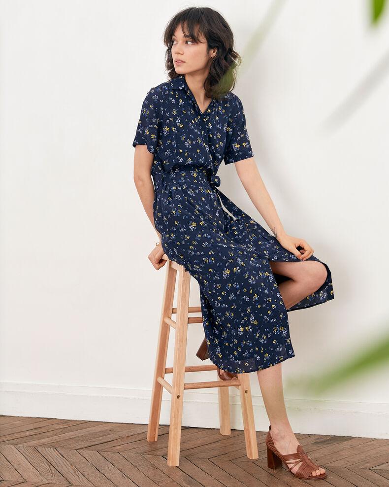 Vestido estampado Lillybell navy Flashback