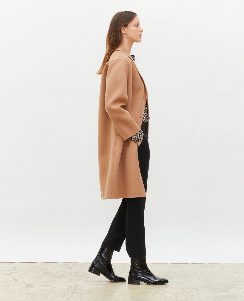 Abrigo de lana Latte Maclas