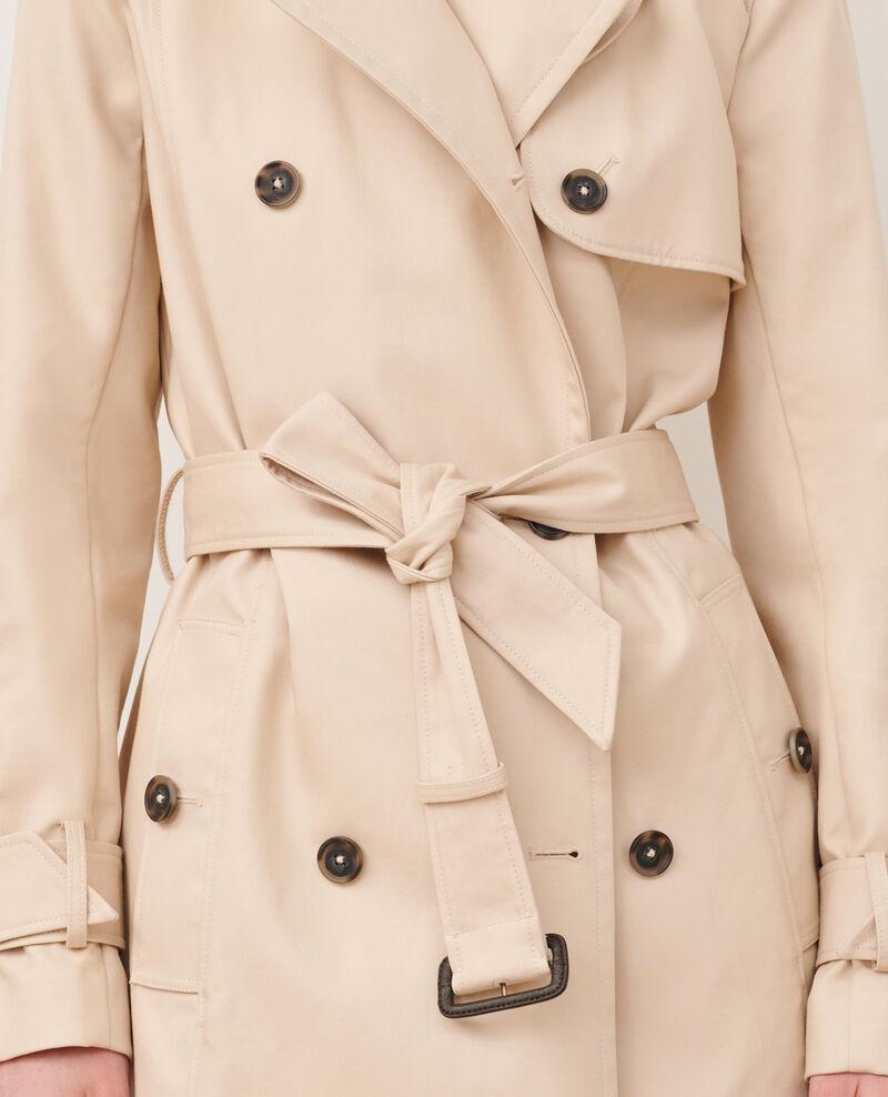CATHERINE - Trench de algodón con cinturón longitud media Smoke gray Mambert