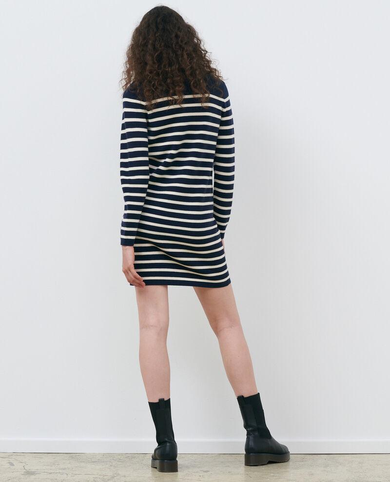 Vestido corto de rayas Stp nv wht Piselle