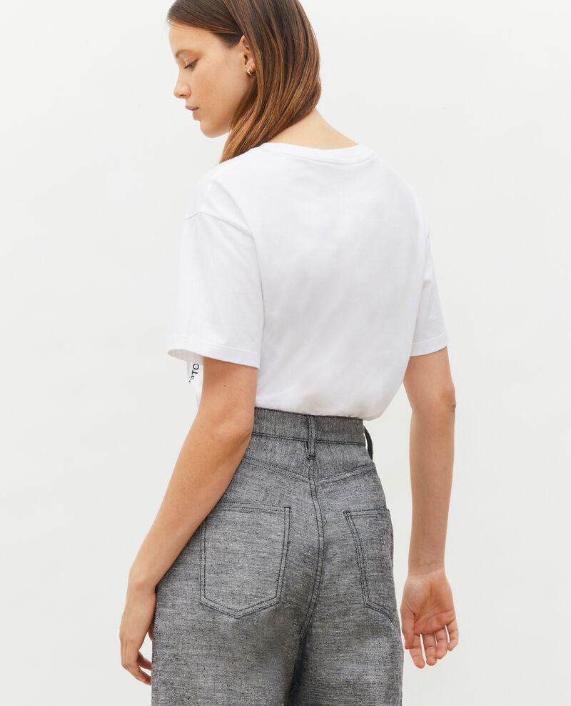 Camiseta amplio de algodón manga corta Light grey melange Masny