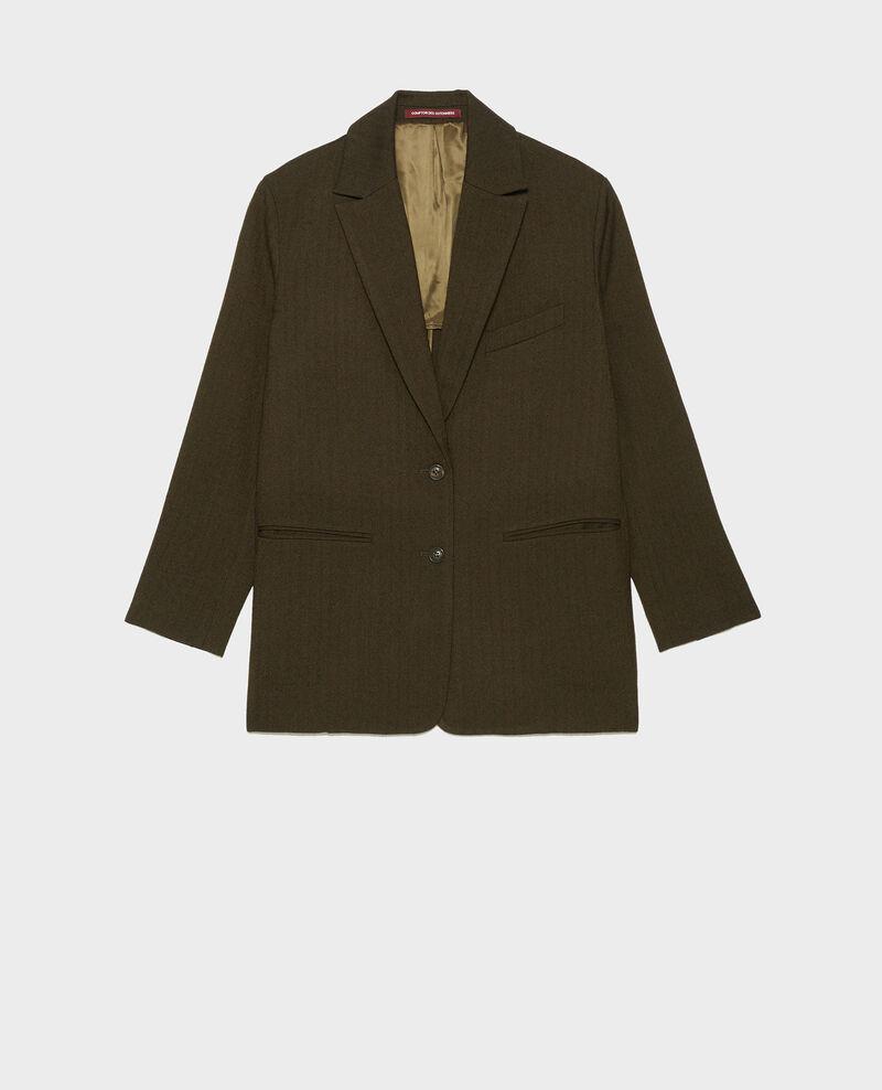 Blazer masculino de lana con 2 botones Military green Mably