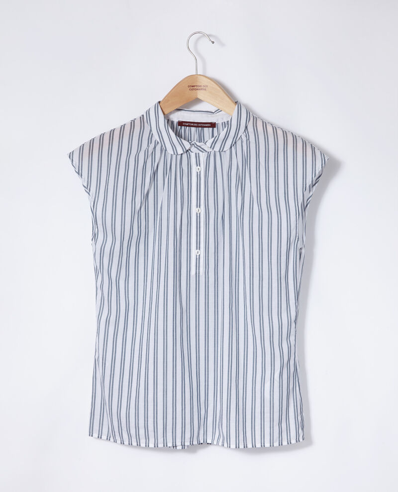 Camisa con cuello redondo Azul Garconne