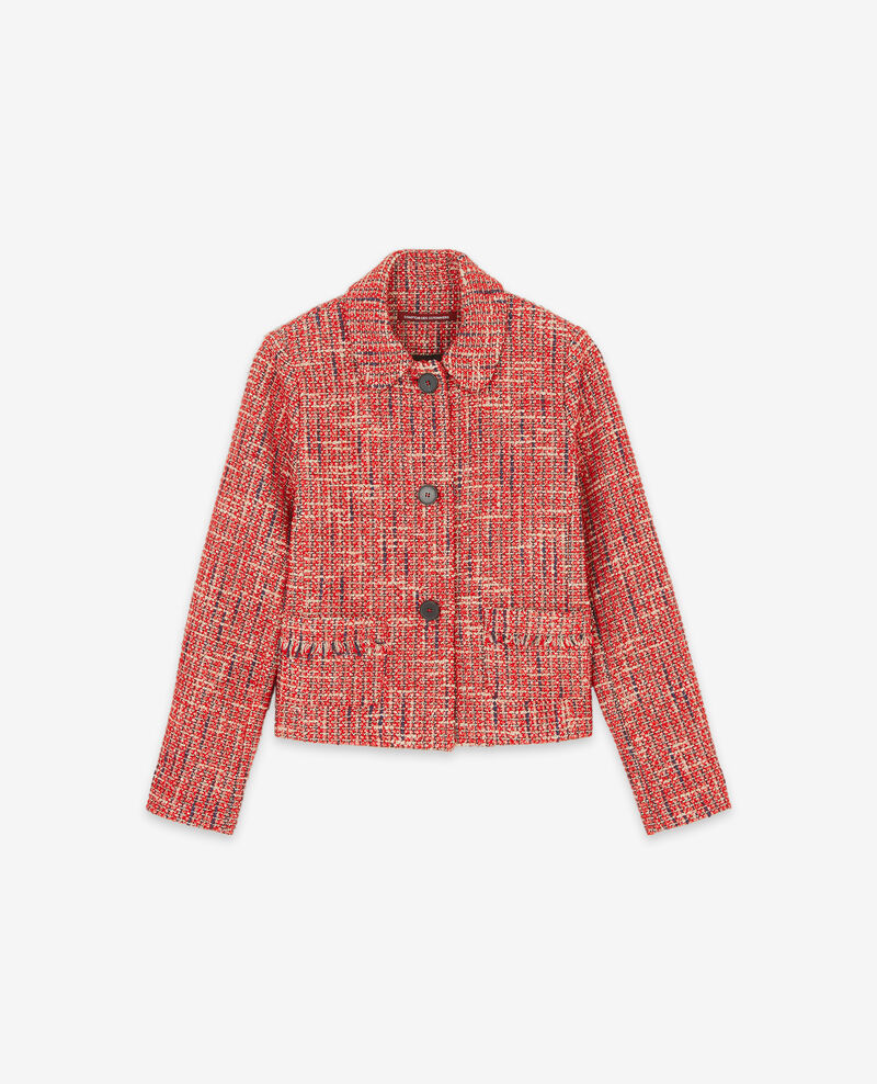 Chaqueta de tweed Orange red Djimmy