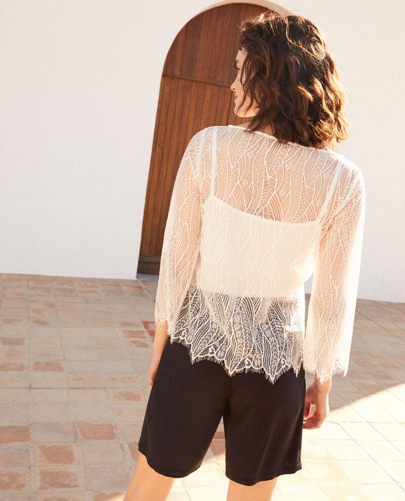 Blusa de encaje  Off white Ilanka