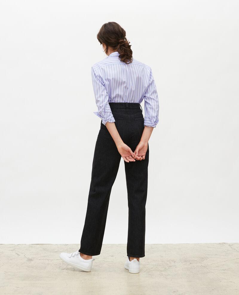 REAL STRAIGHT - Jeans negros de talle alto y 5 bolsillos Noir denim Merlines