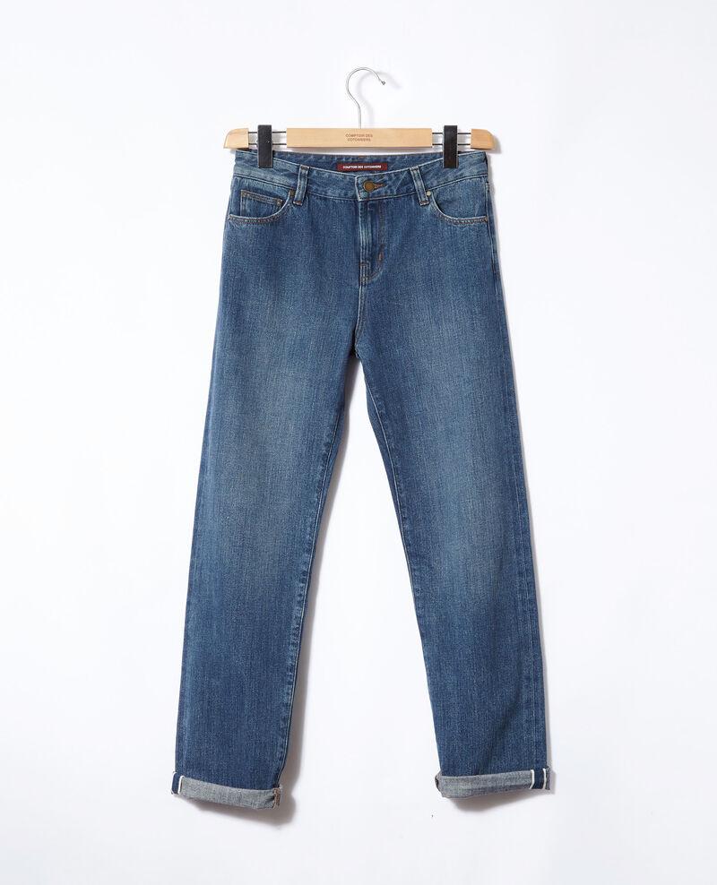 Jeans real straight Azul Ganon