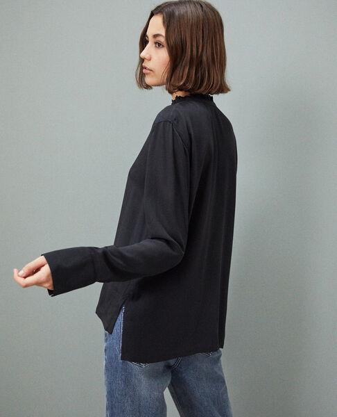 Comptoir des Cotonniers - Blusa de seda Noir - 4
