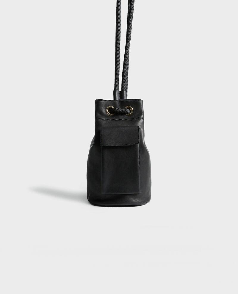 Pequeño bolso saco de cuero Black beauty Mende
