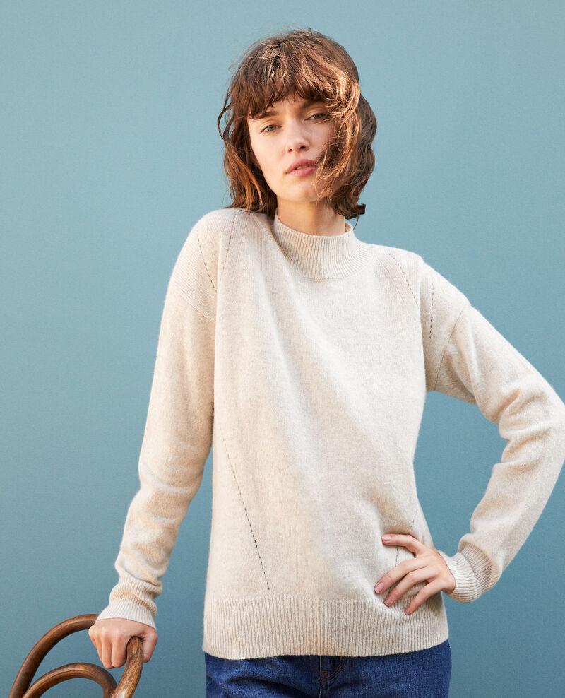 Jersey de cachemir con cuello subido  Beige Gladissio