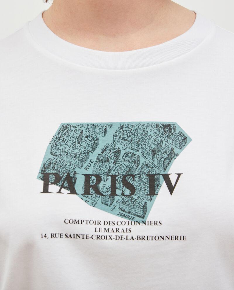Camiseta de algodón manga corta Treillis Mariette