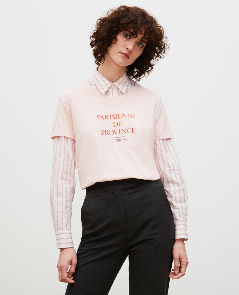 Camiseta de algodón manga corta Seashell pink Mara