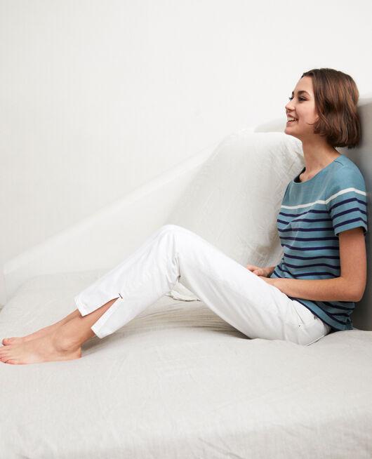 Jeans con dos aberturas BLANC