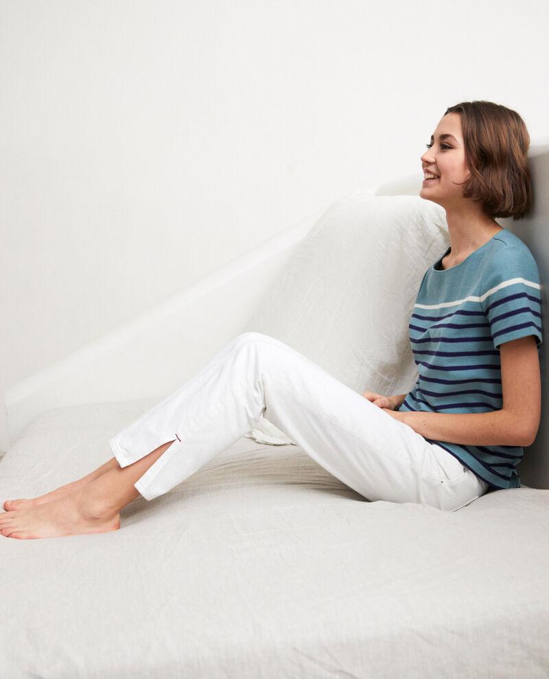 Jeans con dos aberturas Blanc Istru