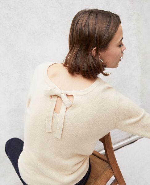 Comptoir des Cotonniers - Jersey cuello redondo de cachemir Light beige - 1
