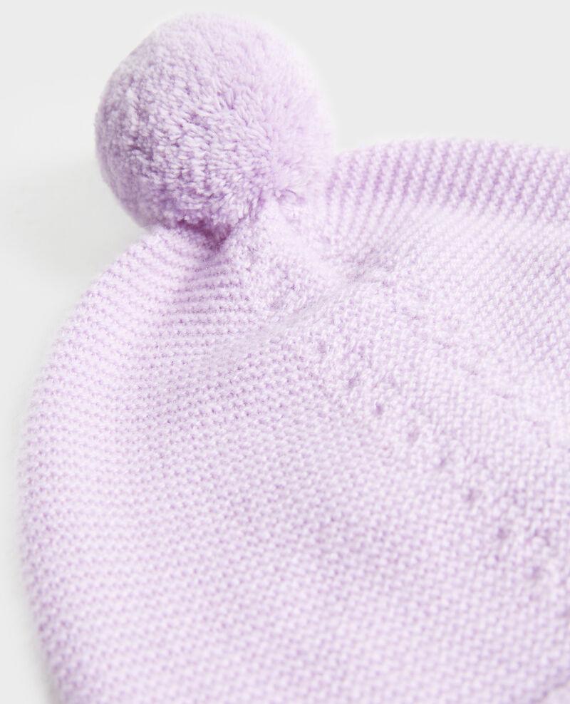 Gorro de cachemir con pompón Pastel lilac Mimizan