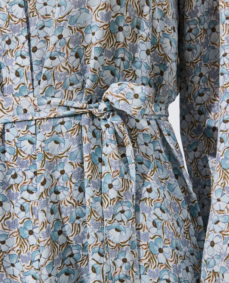 Vestido largo de seda Art deco blue Pavisha