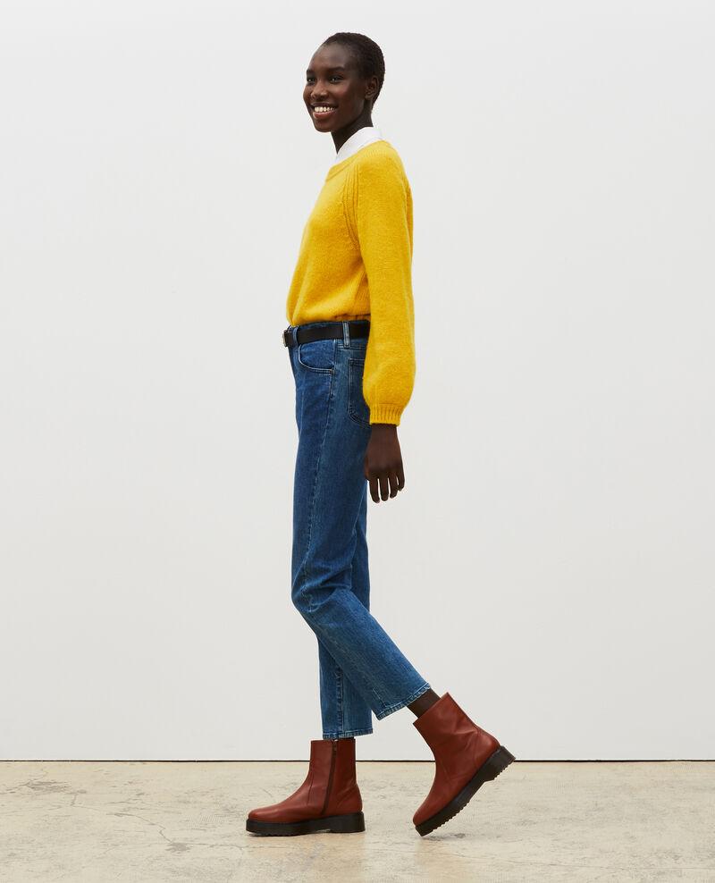 SLIM STRAIGHT - Jeans rectos en denim desteñido Denim medium wash Linneou
