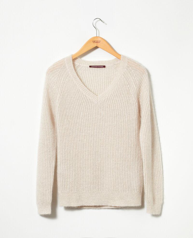 Jersey con mohair y lúrex Silver gray/off white/lurex Getoile