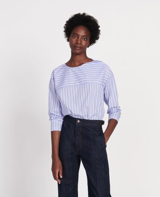 Blusa rayada oversize POPELINE STRIPES