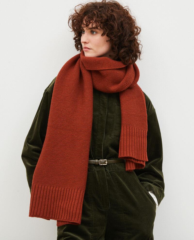 Bufanda larga de lana Brandy brown Moiron