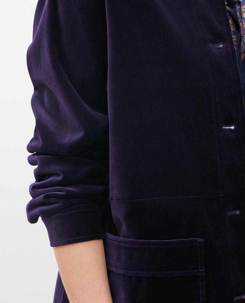 Chaqueta corta de terciopelo de algodón Purple Palipine